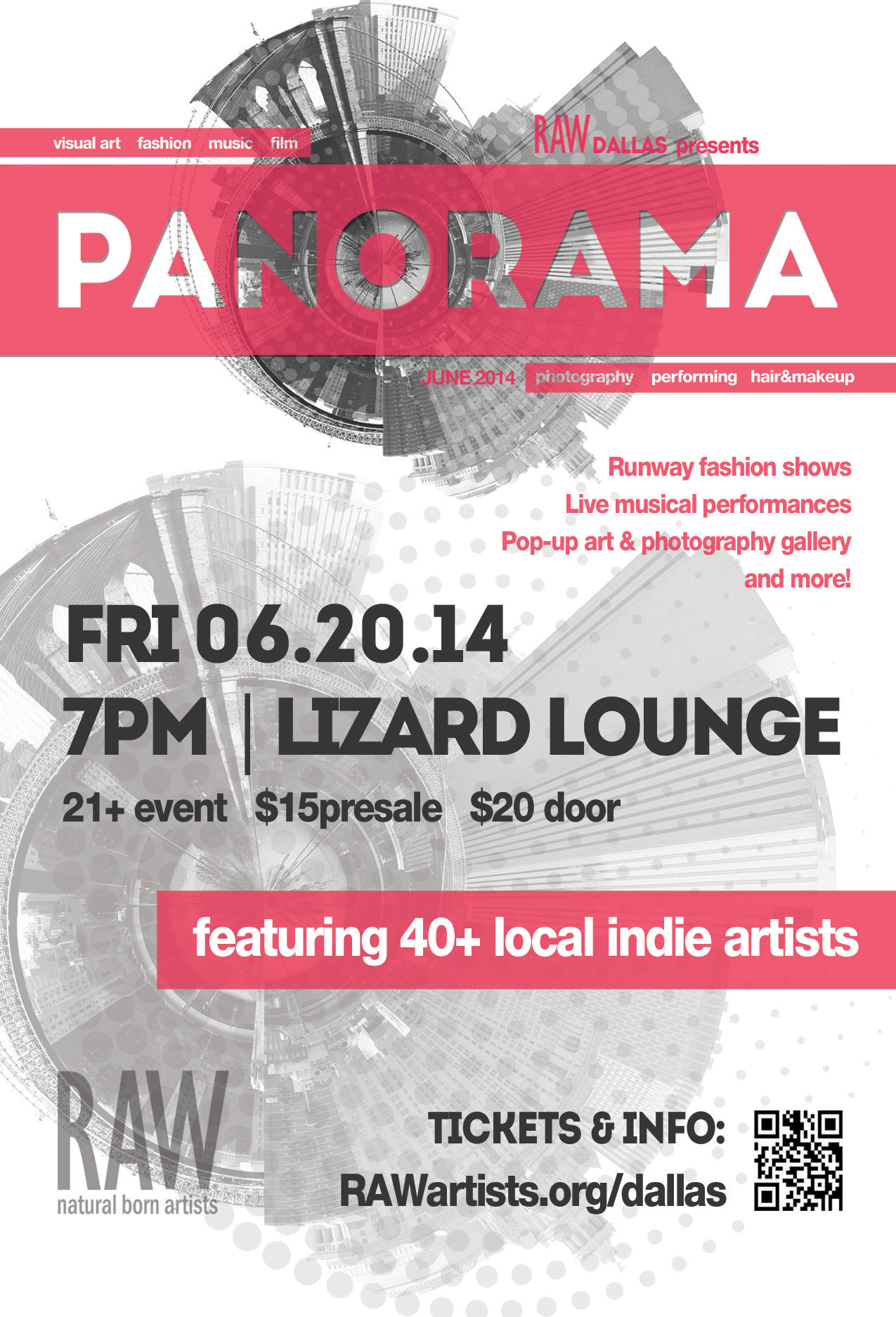 Click to view flyer for 06.20.2014 Raw: Natural Born Artists present: Panorama
