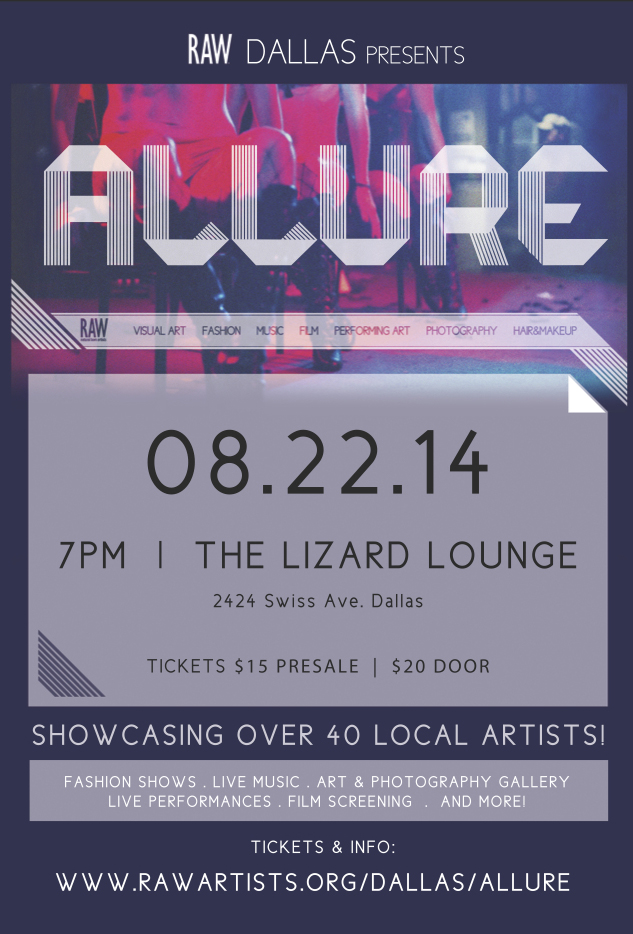 Click to view flyer for 08.22.2014 RAW presents: Allure