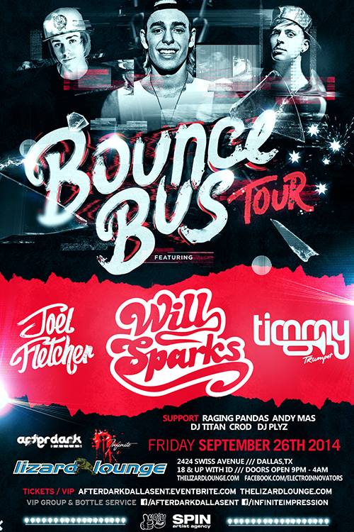 09.26.2014 - Bounce Bus Tour: Will Sparks + Joel Fletcher