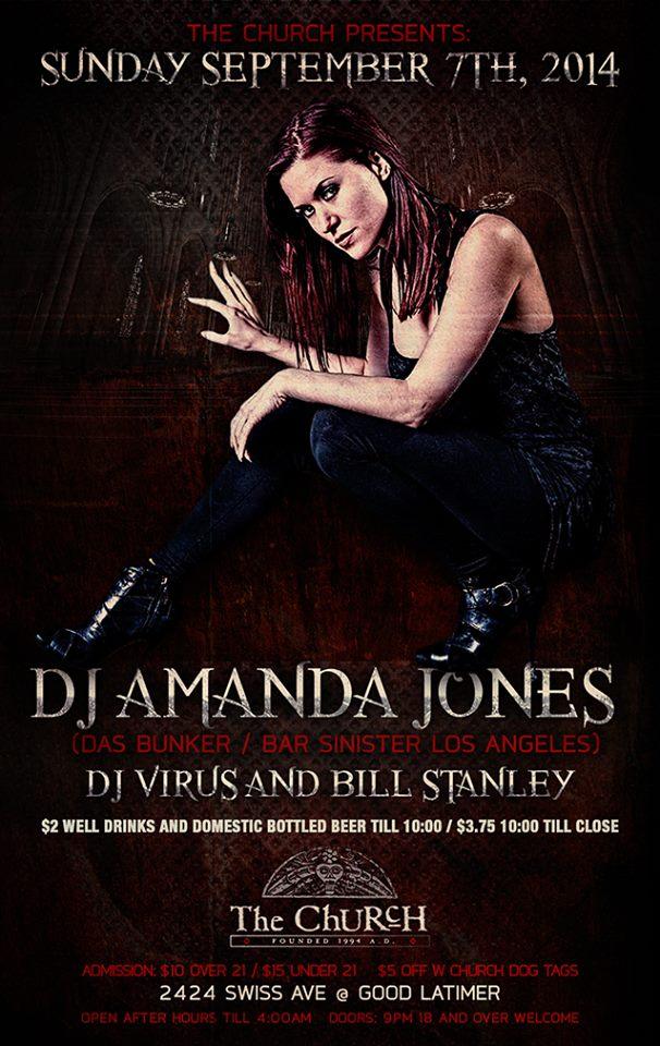 Click to view flyer for 09.07.2014 Amanda Jones: Encore