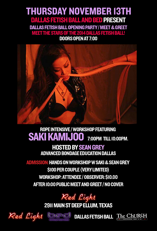 11.13.2014 - 2014 Dallas Fetish Ball opening Party / Rope Clinic featuring Saki Kamijoo