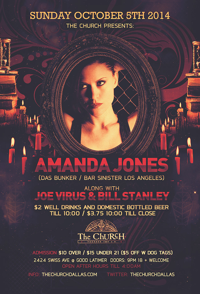 Click to view flyer for 10.05.2014 DJ Amanda Jones