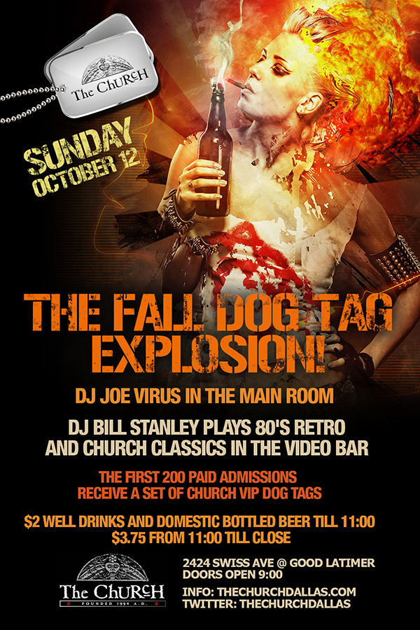Click to view flyer for 10.12.2014 Dog Tag Explosion