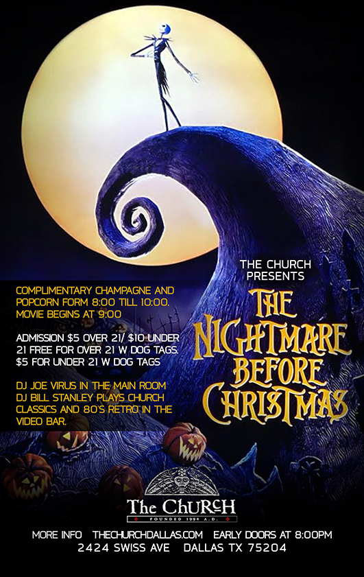 Click to view flyer for 12.21.2014 The Nightmare Before Christmas