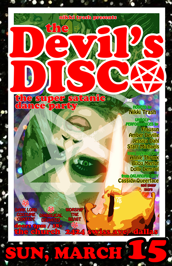 Click to view flyer for 03.15.2015 Nikki Trash presents: Devils Disco