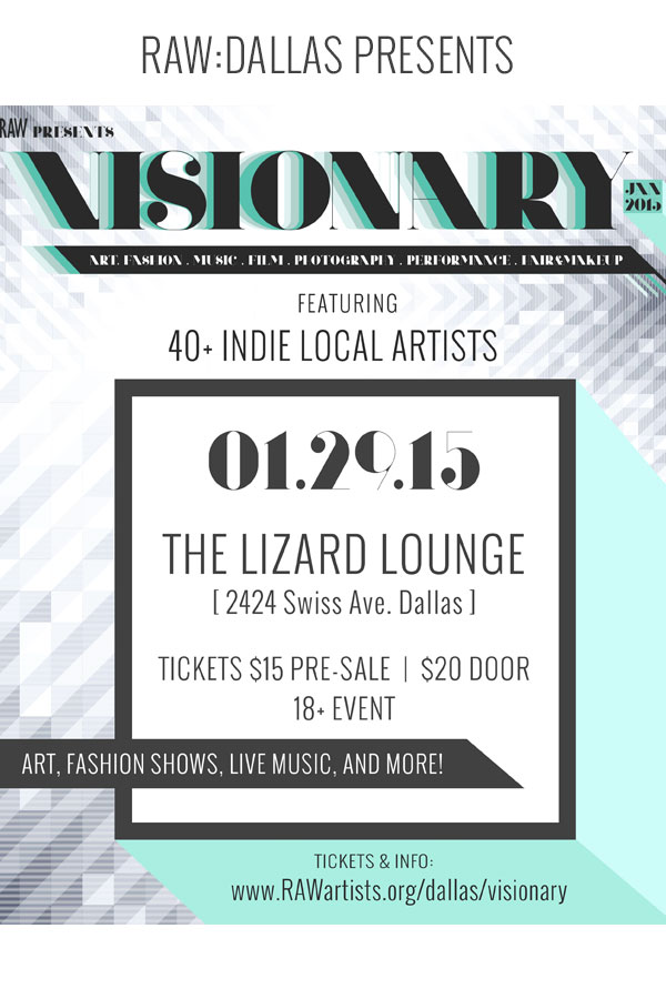 Click to view flyer for 01.29.2015 RAW: Visionary