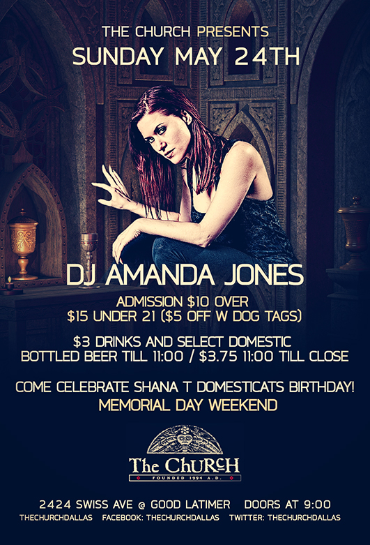 Click to view flyer for 05.24.2015 Memorial Day Weekend w DJ Amanda Jones