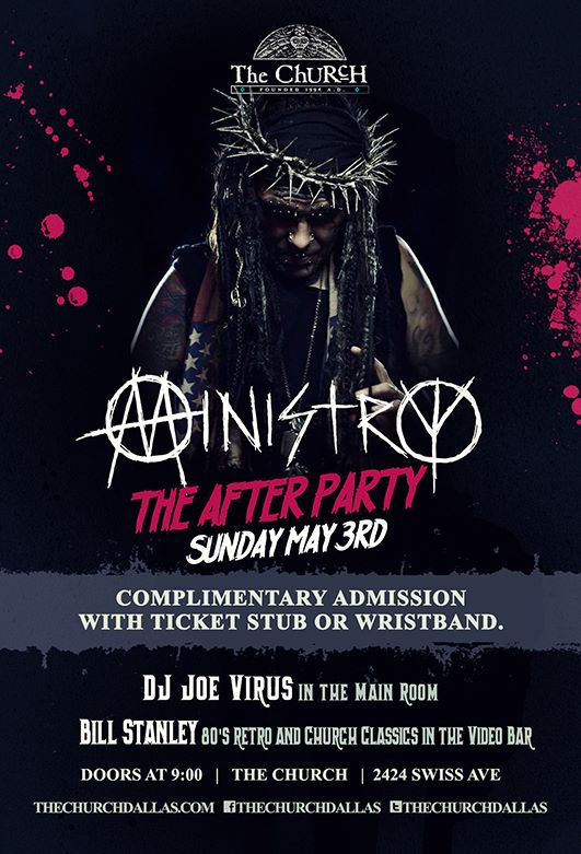 Click to view flyer for 05.03.2015 Ministry: The After Party