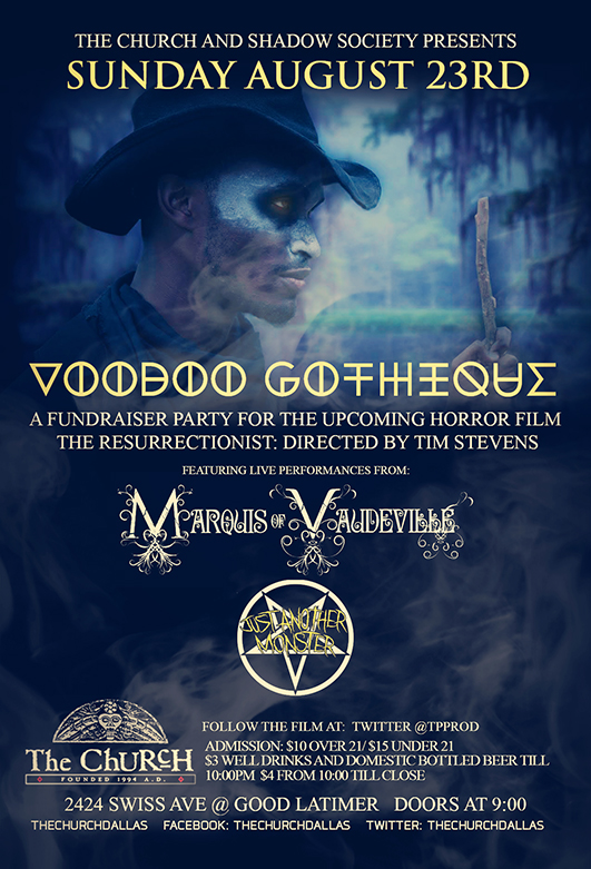 Click to view flyer for 08.23.2015 Voodoo Gothique