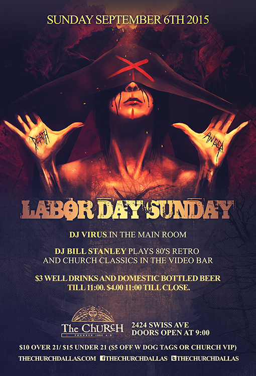 Click to view flyer for 09.06.2015 The Church Labor Day Sunday