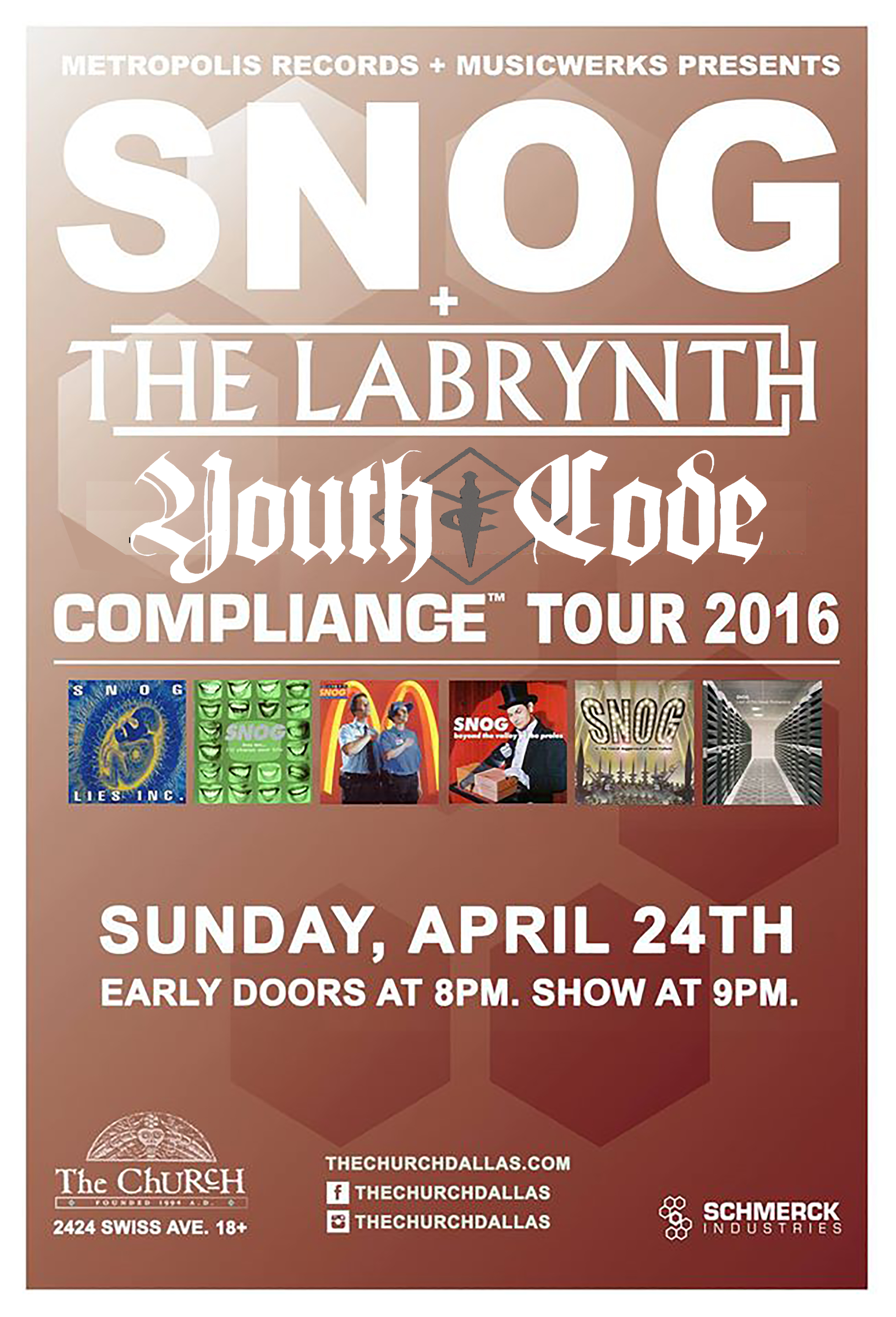 Click to view flyer for 04.24.2016 SNOG w Labrynth and Youth Code