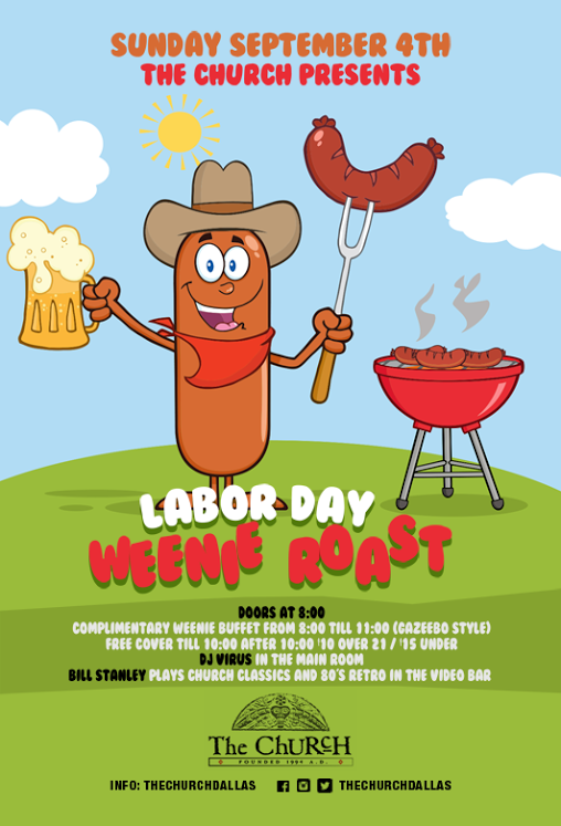 Click to view flyer for 09.04.2016 Labor Day Weenie Roast