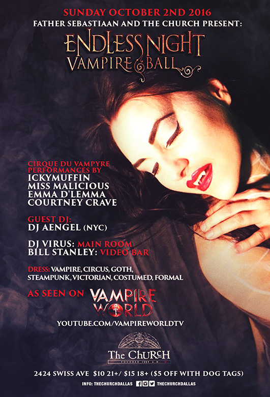 Click to view flyer for 10.02.2016 Endless Night Vampire Ball Dallas