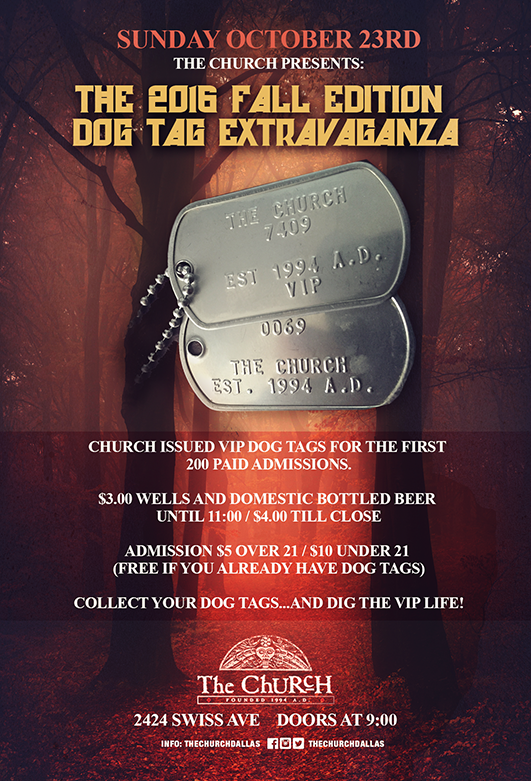 Click to view flyer for 10.23.2016 Fall Dog Tag Grab