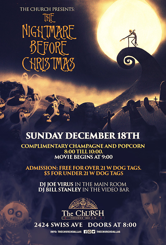 Click to view flyer for 12.18.2016 Nightmare Before Christmas