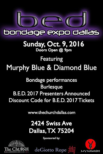 Click to view flyer for 10.09.2016 Bondage Expo Dallas Launch Party