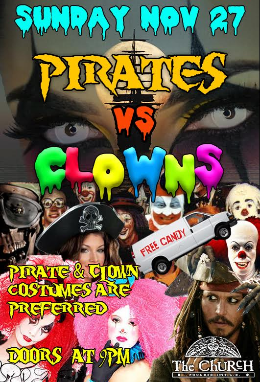 Click to view flyer for 11.27.2016 Pirates Vs Clowns