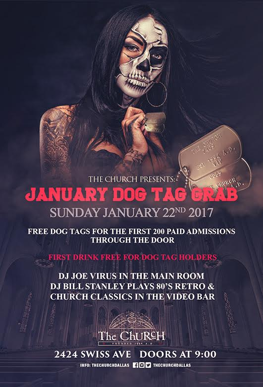 Click to view flyer for 01.22.2017 Jan Dog Tag Grab