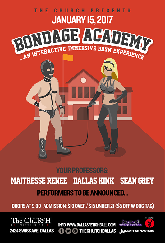 Click to view flyer for 01.15.2017 Bondage Academy