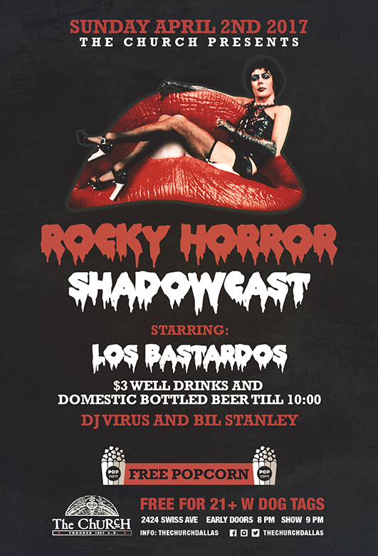 Click to view flyer for 04.02.2017 Rocky Horror w Los Bastardos