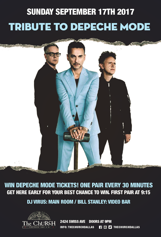 Click to view flyer for 09/17/2017 Depeche Mode Ticket Blast