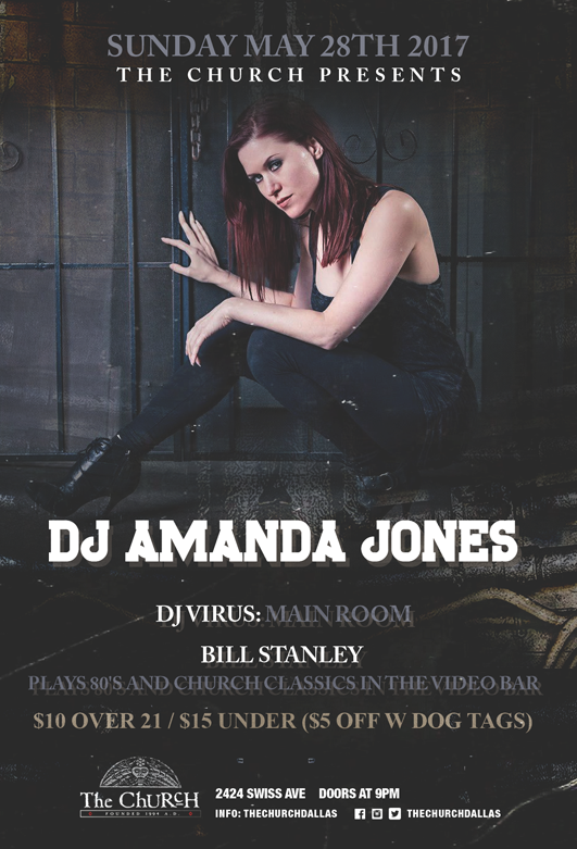 Click to view flyer for 05.28.2017 DJ Amanda Jones