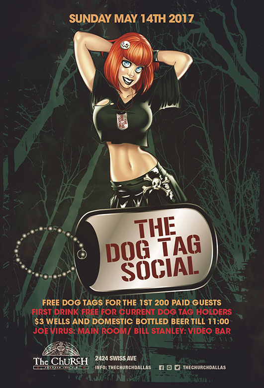 Click to view flyer for 05.14.2017 The Dog Tag Social