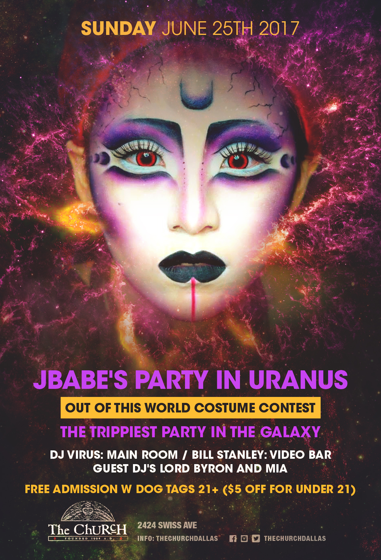 Click to view flyer for 06.25.2017 JBabe's Party in Uranus