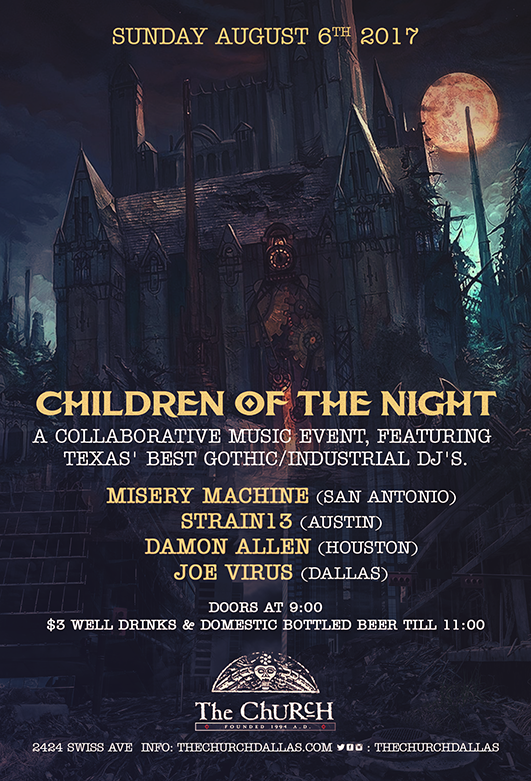Click to view flyer for 08.06.2017 Children of the Night