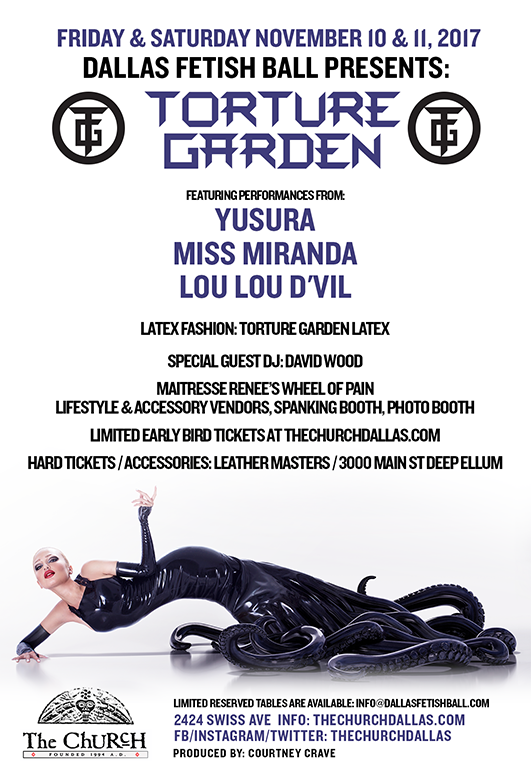 Click to view flyer for 11/10/2017 2017 Dallas Fetish Ball: Friday