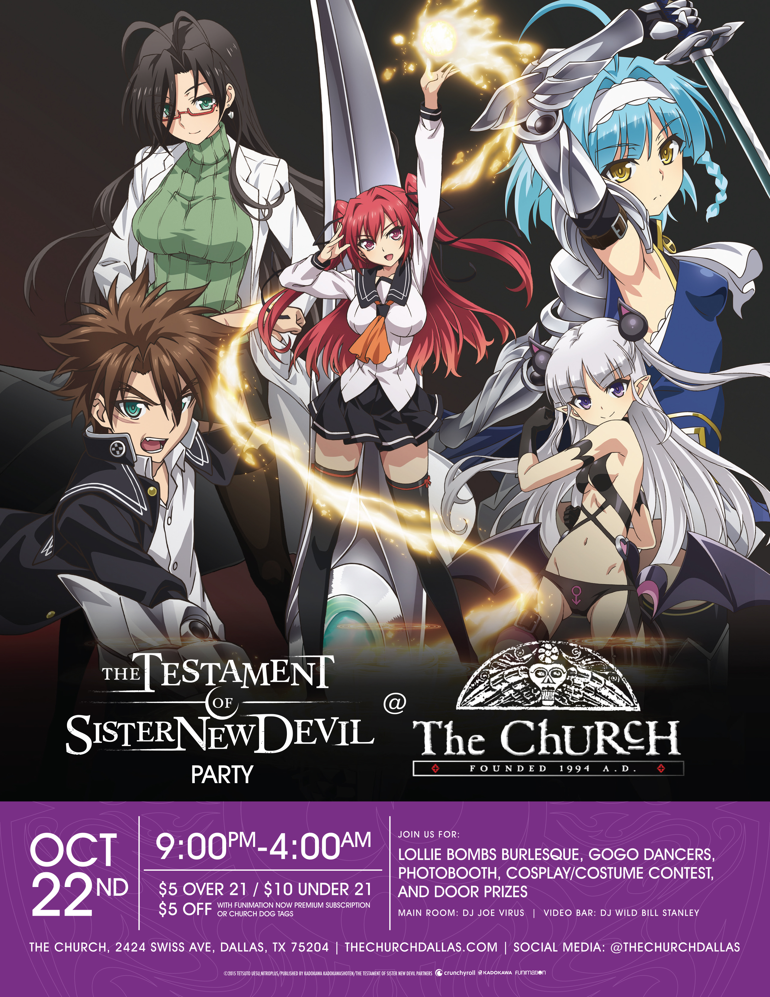 Click to view flyer for 10.22.2017 Testament of Sister New Devil Party