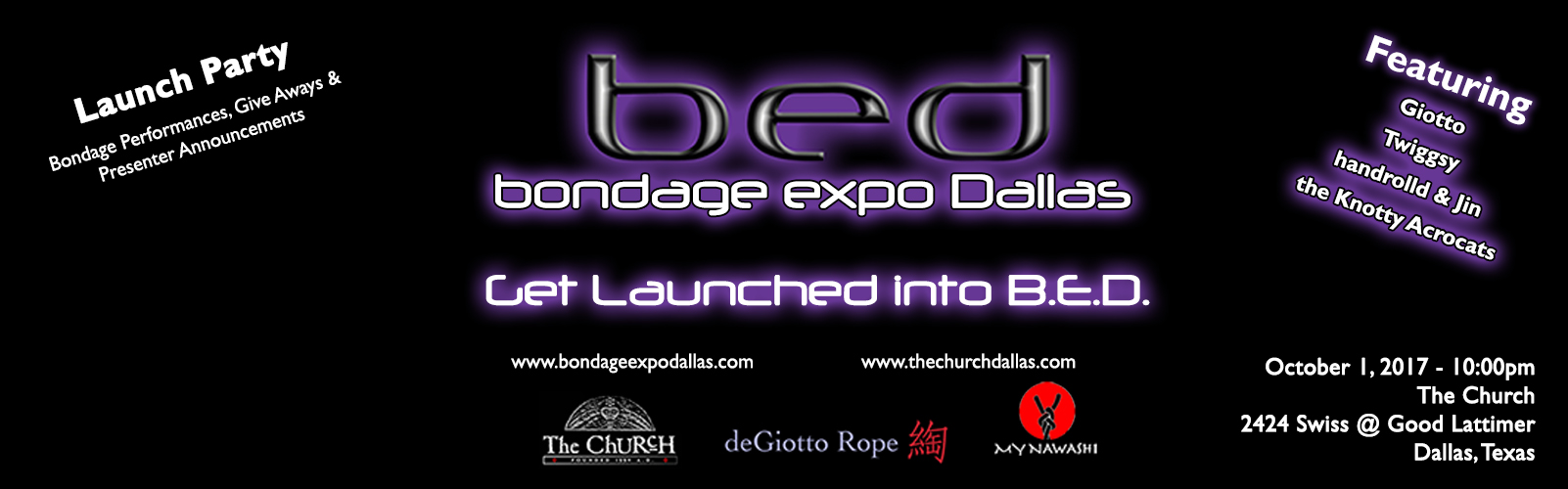 Click to view flyer for 10.01.2017 BED Launch Party