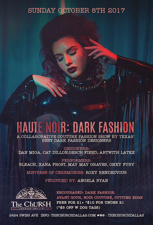 Click to view flyer for 10/08/2017 Haute Noir: Dark Fashion