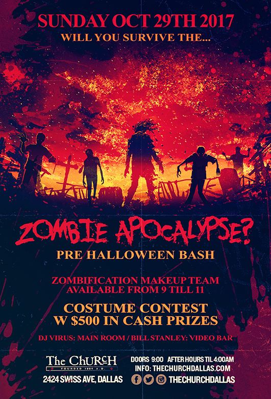 Click to view flyer for 10/29/2017 Zombie Apocalypse