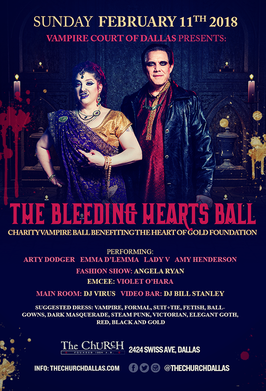 Click to view flyer for 02/11/2018 The Bleeding Hearts Ball