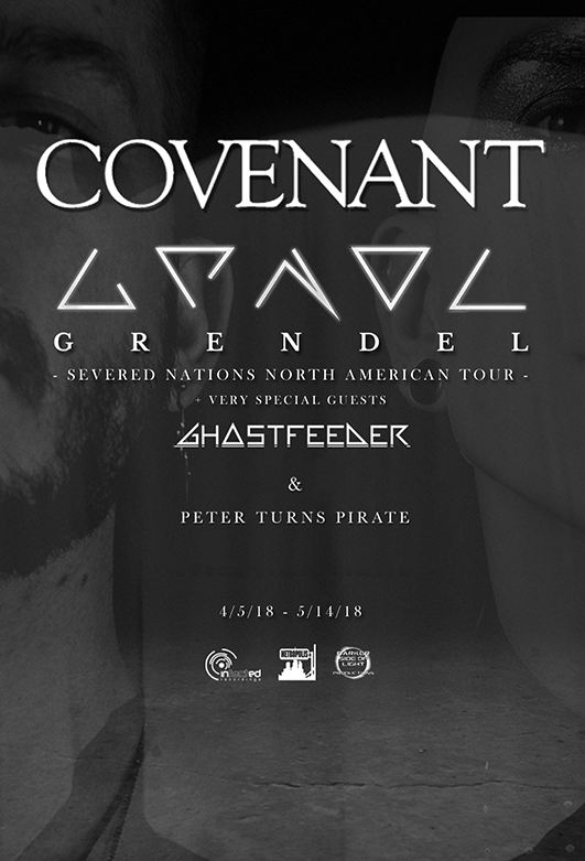 Click to view flyer for 04.22.2018 Covenant, Aesthetic Perfection & Grendel