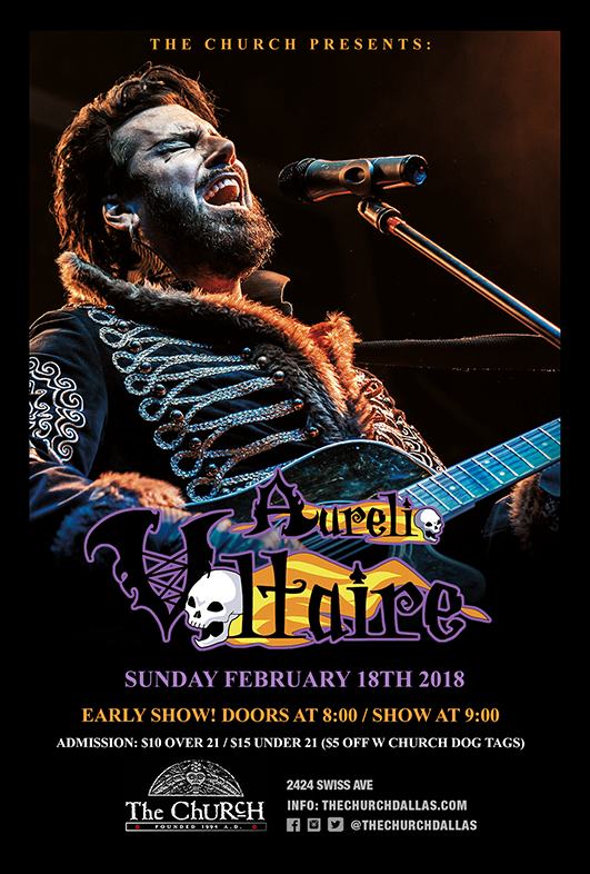Click to view flyer for 02.18.2018 Aurelio Voltaire