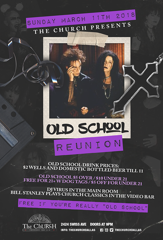 Click to view flyer for 03.11.2018 Old School Reunion
