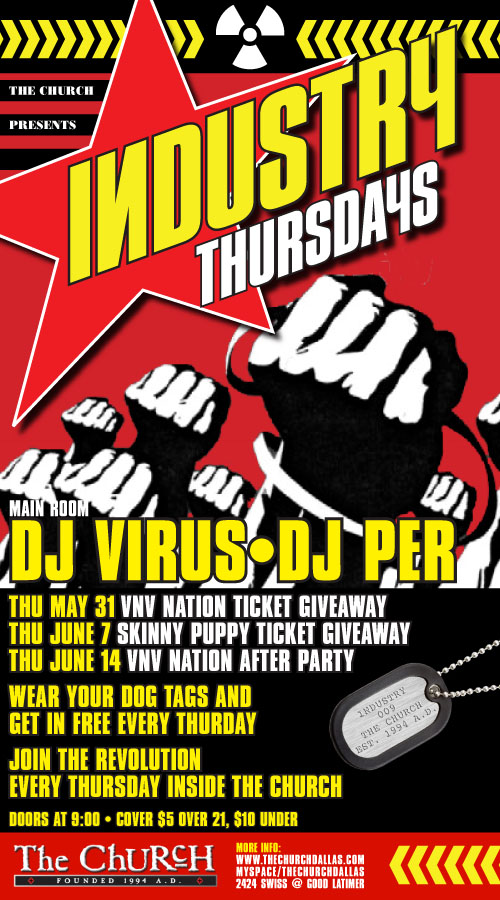Click to view flyer for 06.14.2007 INDUSTRY, VNV Nation after Party