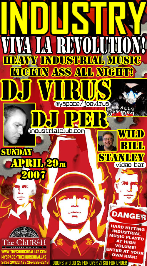 Click to view flyer for 04.29.2007 Industry