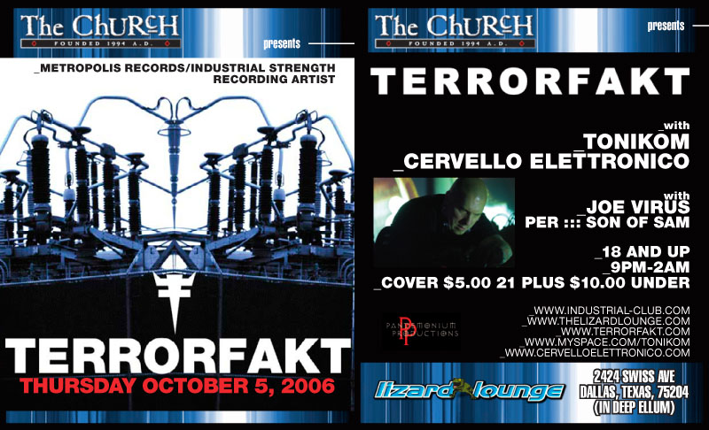 Click to view flyer for 10.05.2006 Terrorfakt