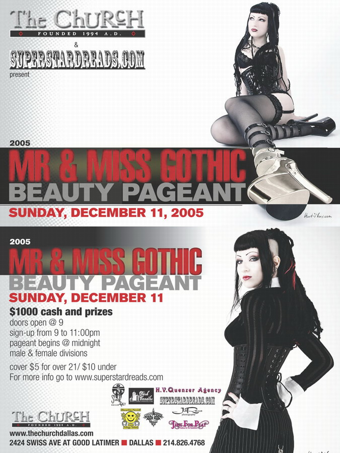 Click to view flyer for 12.11.2005 Gothic Beauty Padgent