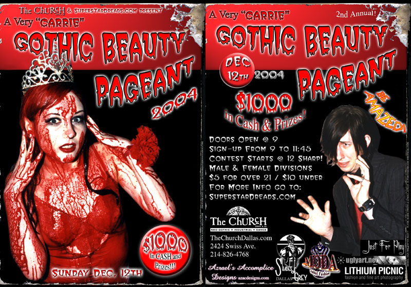 Click to view flyer for 12.12.2004 Gothic Beauty Padgent