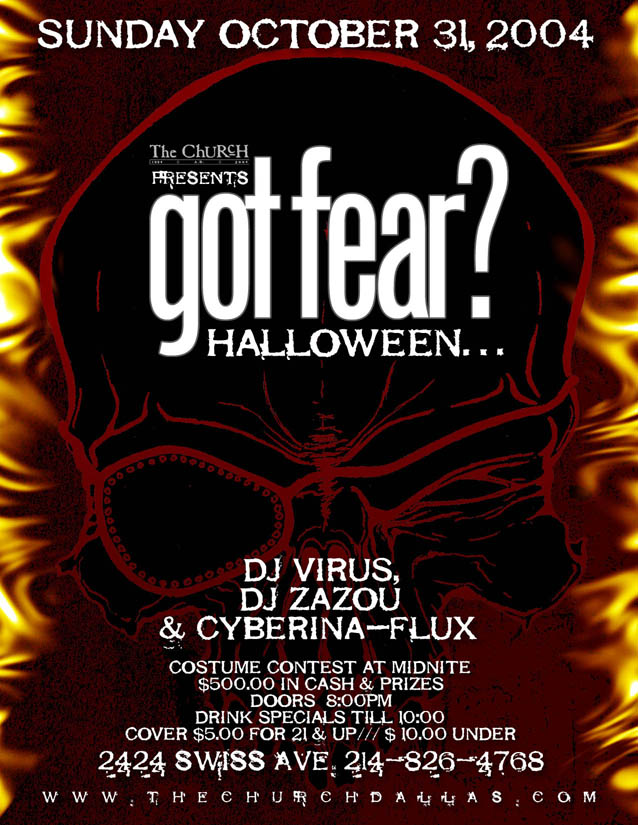 Click to view flyer for 10.31.2004 Halloween