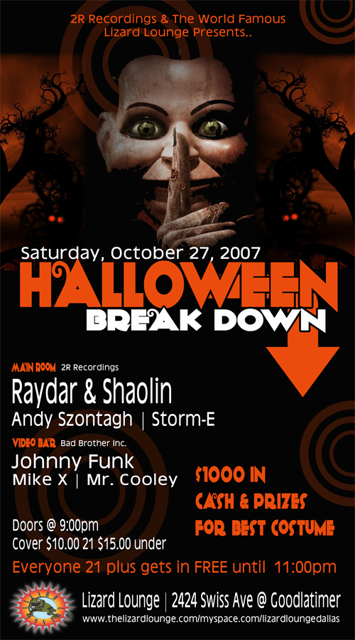 Click to view flyer for 10.27.2007 Halloween Breakdown