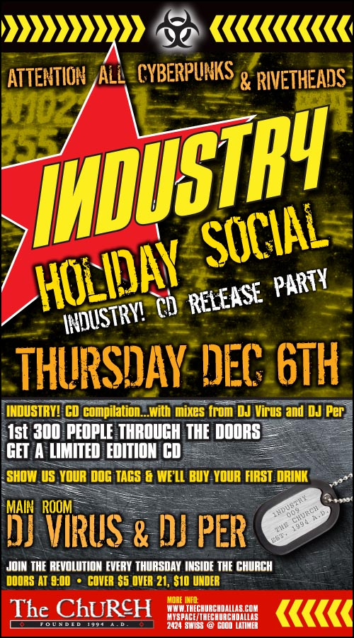 Click to view flyer for 12.06.2007 Industry CD Realease Party