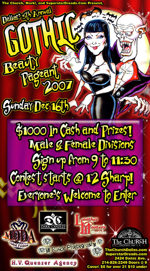 Click to view flyer for 12.16.2007 2007 Gothic Beauty Pageant