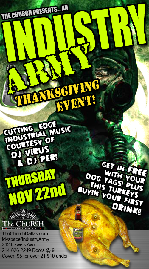 Click to view flyer for 11.22.2007 Thankgiving Day Industry Meet Up