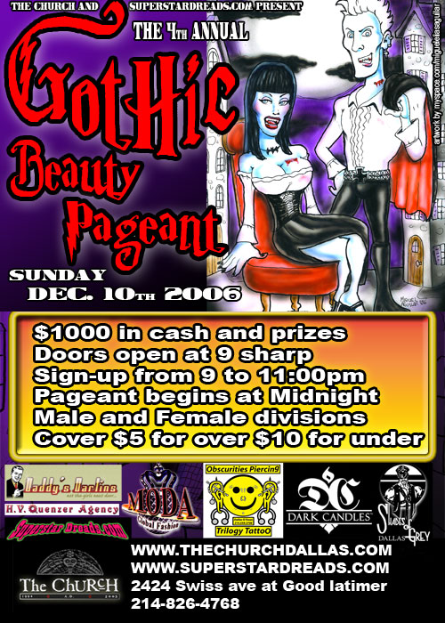Click to view flyer for 12.10.2006 Gothic Beauty Pageant