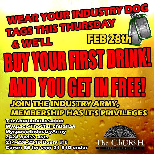 Click to view flyer for 02.28.2008 Industry Army